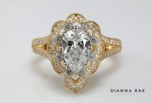 Custom Engagement Rings / All custom engagement rings made at Dianna Rae Jewelry! The personal experience at Dianna Rae allows your to dream and design your perfect custom ring.