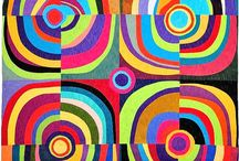 quilts - very like nancy crow class#3 -  lines, curves, circles