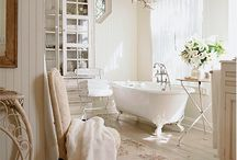 Cottage white bathroom