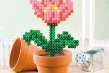 Bügelperlen Geschenkideen (Blumen, Bilderrahmen, ...etc.)