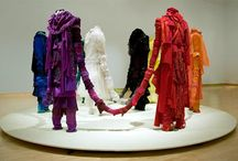 recycled clothing art