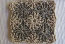 crochet squares, hexagons, triangles and other shapes