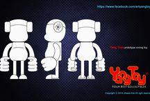 My Art Toy Design - Yang Toys / 찜질방 양머리를 컨셉으로 디자인된 캐릭터 아트토이입니다.