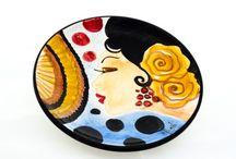 Platos pintados de cerámica / Platos de cerámica pintados a mano