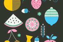 Pattern colour LOVE