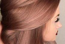 μαλλιά ροζ χρυσό