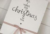 christmas handlettering