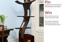 Pin2Win / Details on The Refined Feline #Pin2Win cat furniture contest