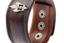 ARM022 / Rugged Looks with our Broad Leather Men's Bracelet
