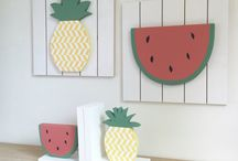 Tutti Frutti / cute summer decor ideas featuring trendy fruits