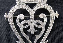 Luckenbooth wedding brooches/Celtic jewelary