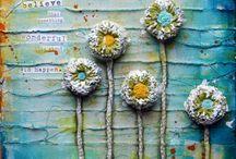 petite fleur / crafts et fiches pédago sur thème fleurs / by Christel Ponsero