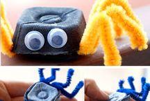 Cartons D'œufs pour faire des araignées