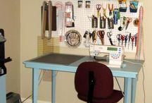 craft room ideas / by Marina Boroday