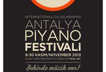 14. Antalya Piyano Festivali / 14. Antalya Piyano Festivali'nin tanıtım board'udur.
