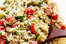 Summer cucumber, tomato and quinoa salad