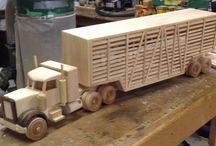 houten voertuigen