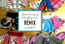 Girls Fashion Upcycle Ideas for REMIX / re-purpose stuff for little girls fashion