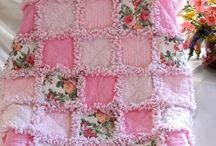 Pink Rag Snip Quilt