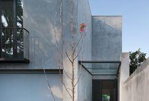 Concrete wall outside