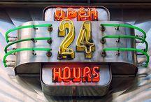 refs (work) : neon sign