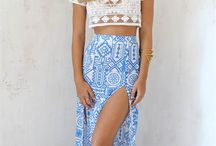 Look with long skirt