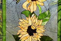 Stained Glass - Sunflowers