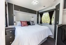 PIAZZA Caravan / The newest luxury van in our range, the Piazza adds a generous amount of undercover floorspace by utilizing the area above the draw bar of the caravan.
