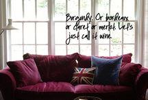 Burgundry sofa