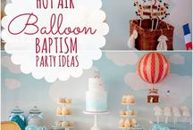 Christening Theme - Hot Air Balloon | Greek Orthodox Baptism Ideas Boys
