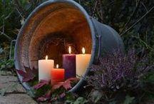 Garten Demo Kerzen