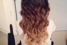 brunette with ombre