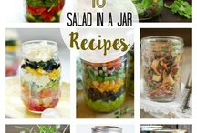 dishes in jam jars