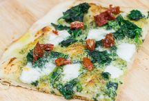 vegetarische Pizza & Flammkuchen