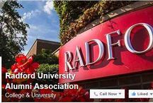 Celebrate, Connect, Contirbute / Follow Radford University's Social Media / by Radford University Alumni Association