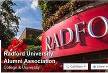 Celebrate, Connect, Contribute / Follow Radford University's Social Media