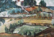 Ianthe arthur Landscape in Oils