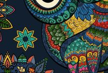 Theme - owls / Owls illustrations