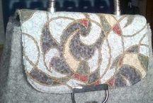 сумочки и тапочки из шерсти