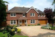House exterior / tiles / roof / garage