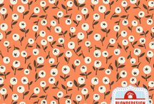 Orange Fabrics / http://blondedesign-astitchintime.com/collections/fabric/orange