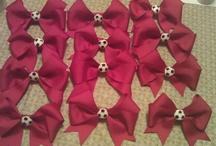 Hair bows / Team Hair Bows  / Handmade hair bows $3 or 2 for $5  I luv hair bows / by Amanda Soto