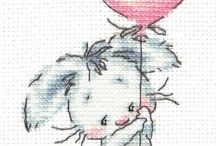 coniglietti cross stitch