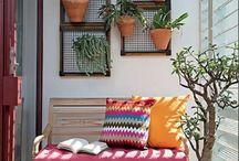Balcones, jardines y plantas