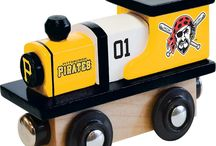 MLB Wood Toy Trains / Buy a wooden MLB themed train for the young MLB fan in your household. Trains available from all of the popular Major League Baseball teams including Pirates, Tigers, Cardinals, Yankees. Cubs, Orioles and more.