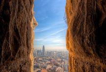 Barcelona skylines