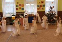 pohybové hry, tance