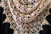 Hand knit lace- shawls, scarfs, hats etc. / Natural fiber knits