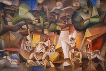 Cubismo Analítico / En 1909 Braque y Picasso estrechan su amistad y consiguen desarrollar la nueva tendencia. Juntos crearon las dos tendencias del cubismo. La primera es el cubismo analítico (1909-1912), en donde la pintura es casi monocroma en gris y ocre. Lo importante eran los diferentes puntos de vista y la geometrización, no el cromatismo. Usan un «nuevo lenguaje» que analiza la realidad y la descompone en múltiples elementos geométricos.
