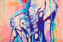 Elephant watercolour